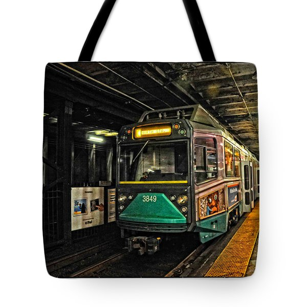 Boston's Mbta Green Line Tote Bag by Mike Martin