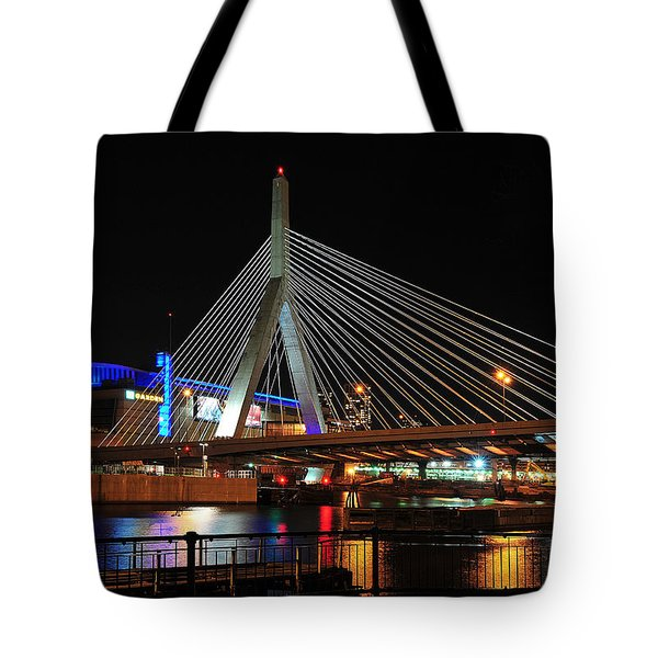 Boston's Zakim-bunker Hill Bridge Tote Bag