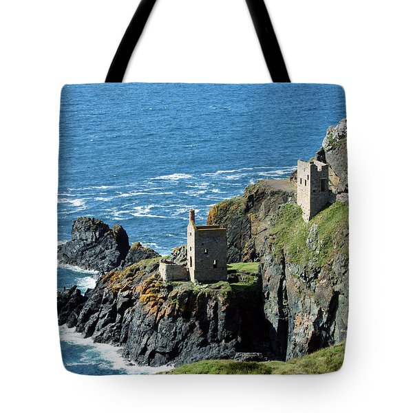 Botallack Crown Engine Houses Cornwall Tote Bag