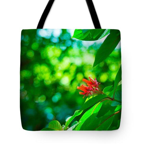 Botanical Garden Butterfly Tote Bag