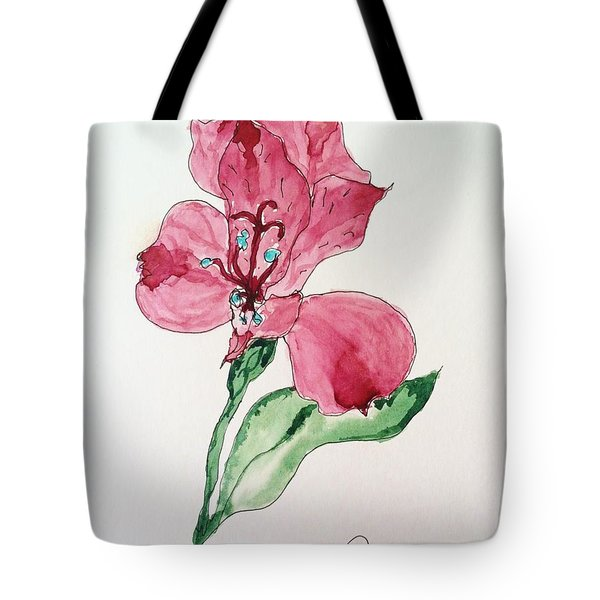 Tote Bag featuring the painting Botanical Work by Rand Swift