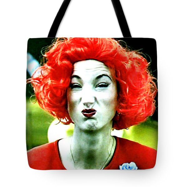 Both Eyes Blinking Means Trouble Higher Up Tote Bag