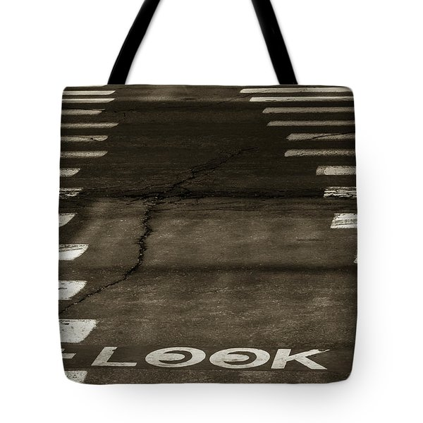 Tote Bag featuring the photograph Both Ways - Urban Abstracts by Steven Milner
