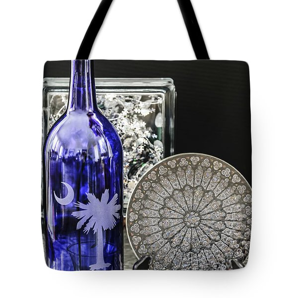 Bottle And Plate Tote Bag