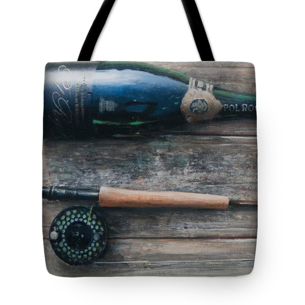 Bottle And Rod I Tote Bag by Lincoln Seligman