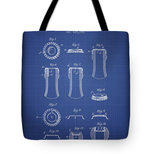 Bottle Cap Patent 1899- Blueprint Tote Bag