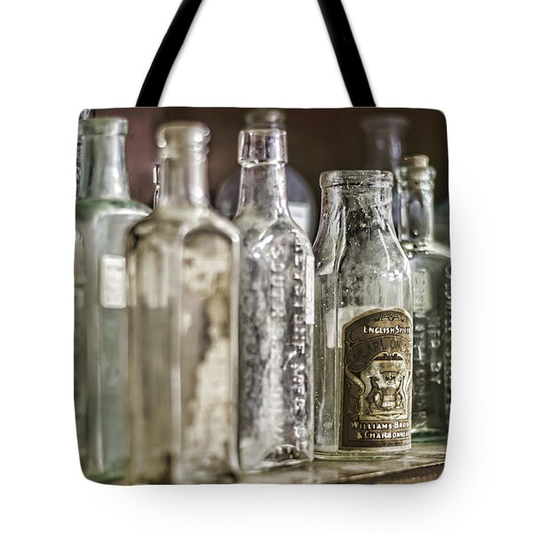 Bottle Collection Tote Bag by Heather Applegate