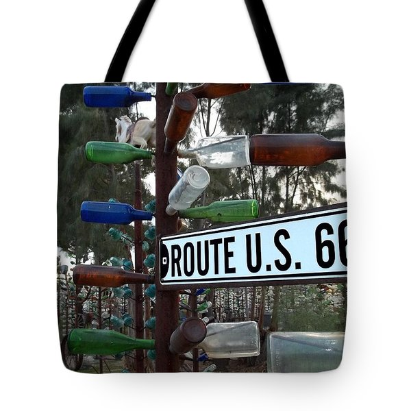 Bottle Trees Route 66 Tote Bag