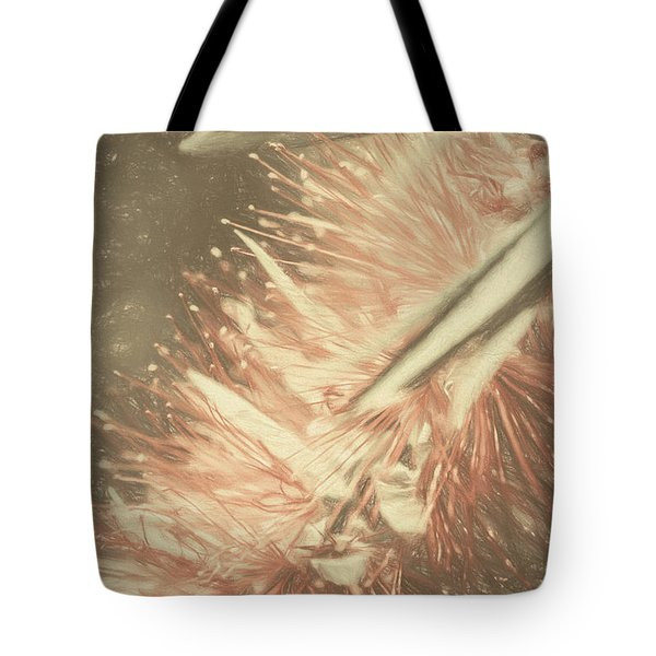 Bottlebrush Fine Art Illustration Tote Bag