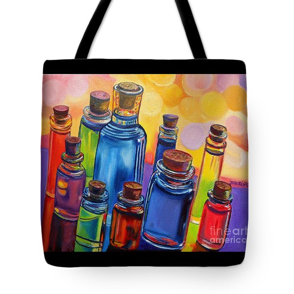 Bottled Rainbow Tote Bag by Julie Brugh Riffey