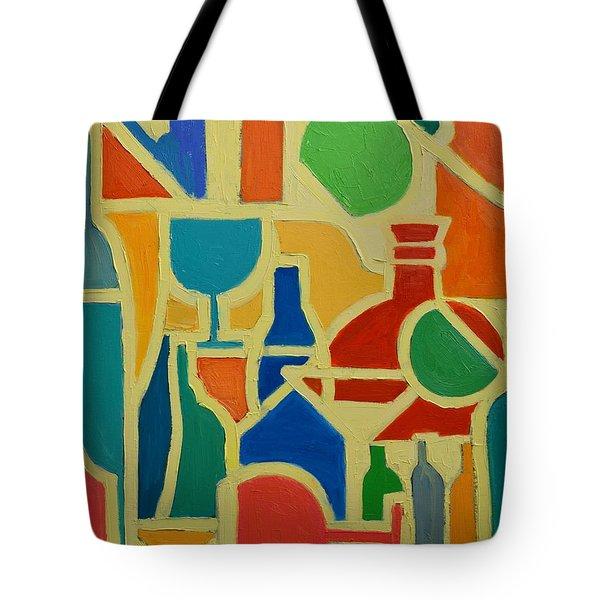 Bottles And Glasses 2 Tote Bag by Ana Maria Edulescu