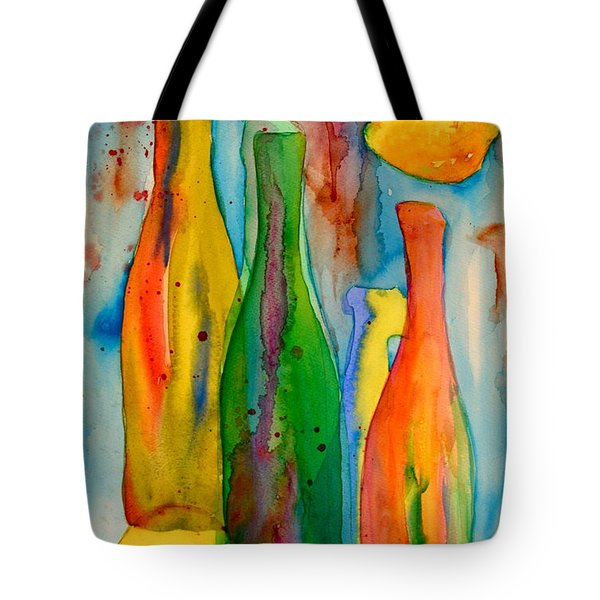 Bottles And Lemons Tote Bag