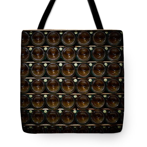 Bottles. Ca Del Bosco Winery. Franciacorta Docg Tote Bag by Jouko Lehto
