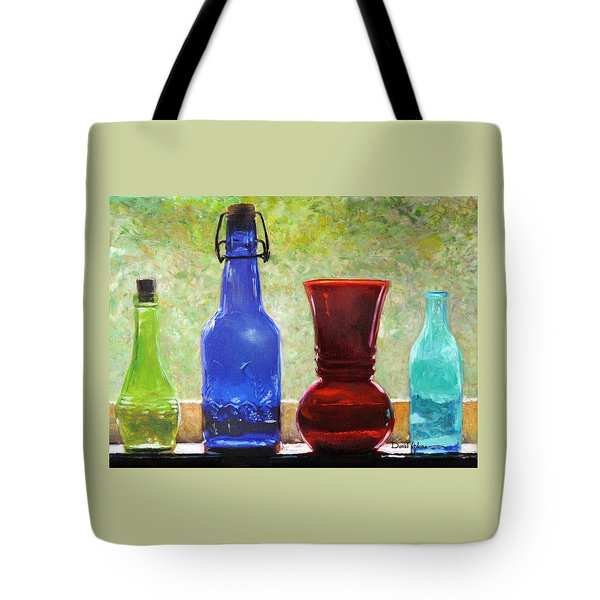 Da142 Bottles Of Time Daniel Adams Tote Bag