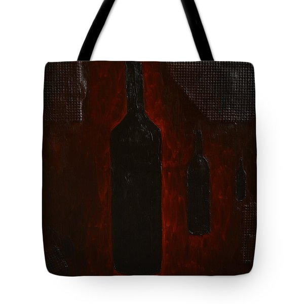 Tote Bag featuring the painting Bottles by Shawn Marlow
