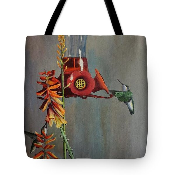 Tote Bag featuring the painting Bottoms Up by AnnaJo Vahle