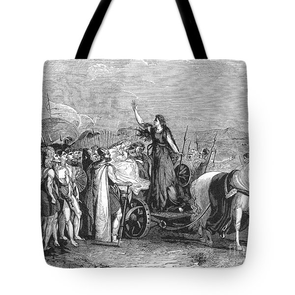 Boudica Leading British Tribes 60 Ad Tote Bag by Photo Researchers