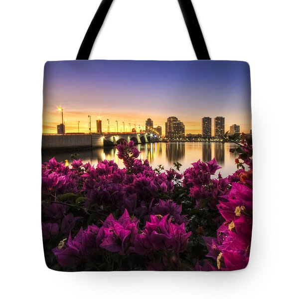 Bougainvillea On The West Palm Beach Waterway Tote Bag