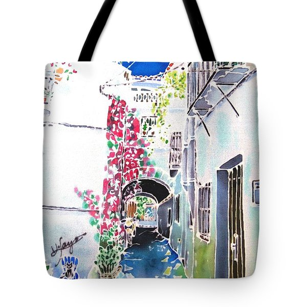 Bougainvillea Path  Tote Bag