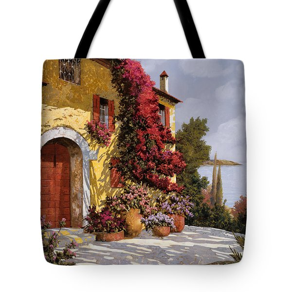 Tote Bag featuring the painting Bouganville by Guido Borelli
