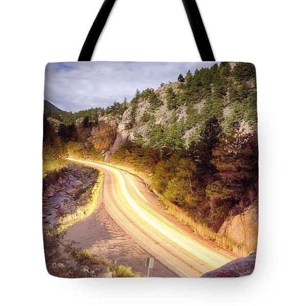 Boulder Canyon Beams Of Light Tote Bag by James BO  Insogna