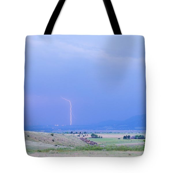 Boulder Colorado Lightning Strike Tote Bag by James BO  Insogna