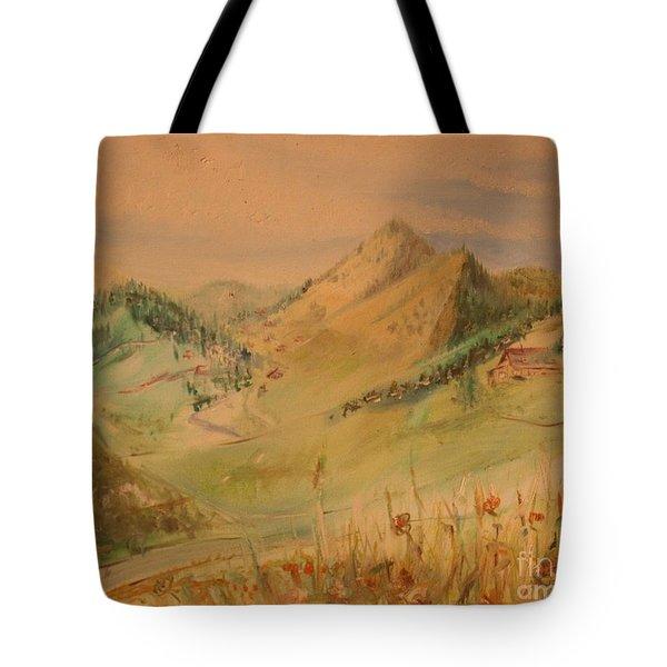 Boulder Colorado Painting Tote Bag