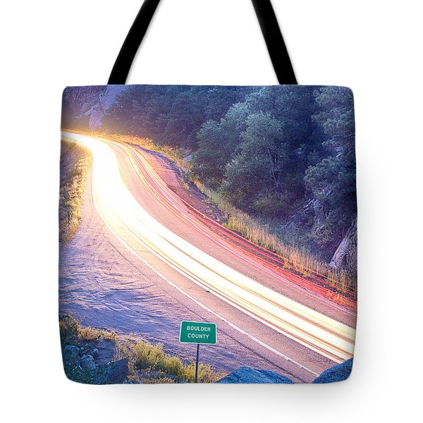 Boulder County Colorado Blazing Canyon View Tote Bag by James BO  Insogna