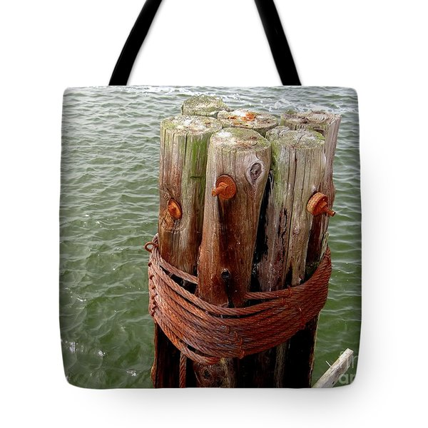 Bound And Bolted Tote Bag by Ed Weidman