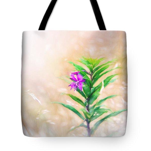 Flower In Digital Watercolor Tote Bag