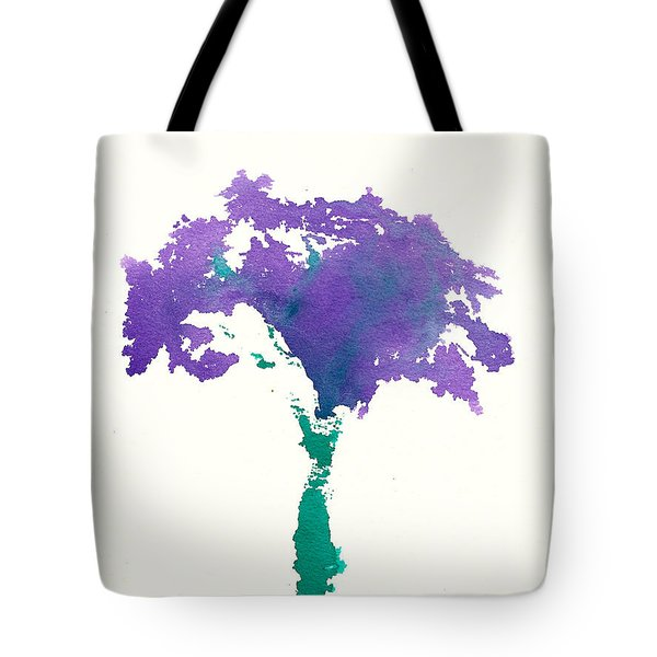 Tote Bag featuring the painting Bouquet Abstract 1 by Frank Bright