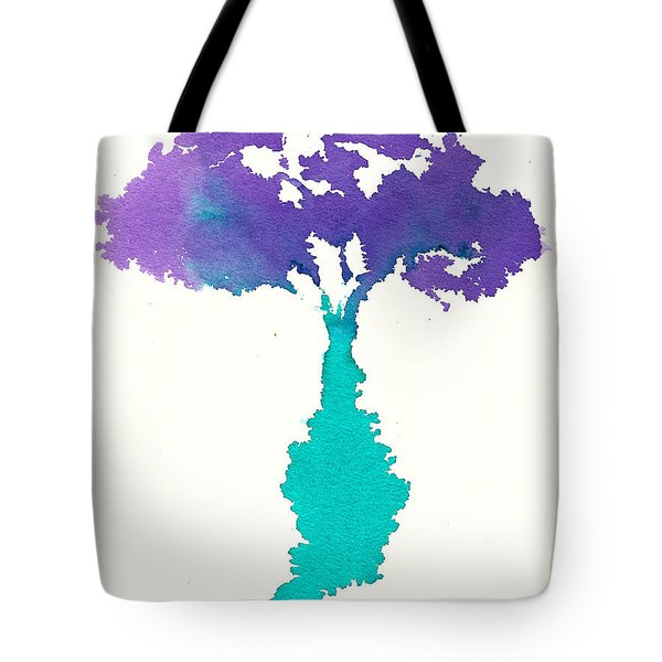 Tote Bag featuring the painting Bouquet Abstract 2 by Frank Bright