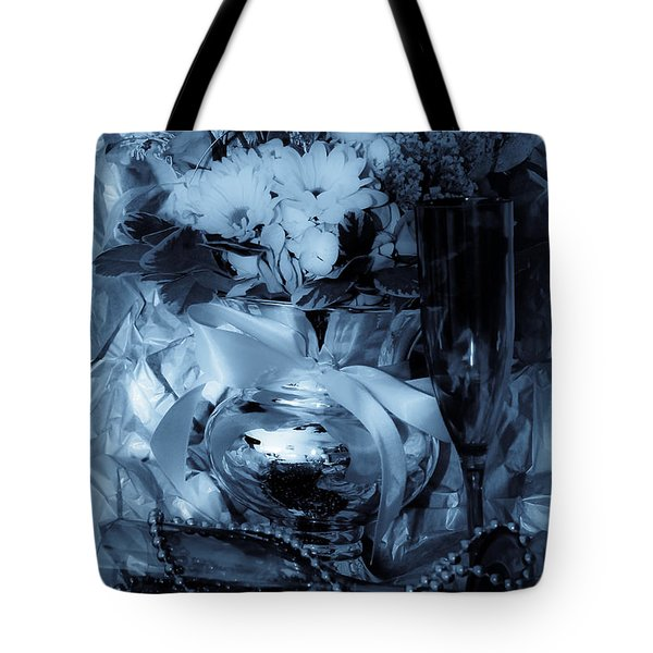 Bouquet And Beads Tote Bag by DigiArt Diaries by Vicky B Fuller