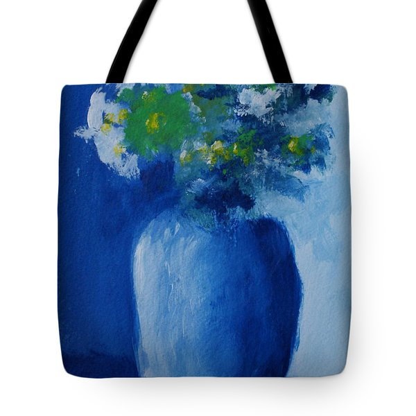 Bouquet In Blue Shadow Tote Bag