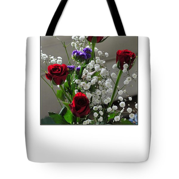 Bouquet In Red White And Blue Tote Bag by Randi Grace Nilsberg