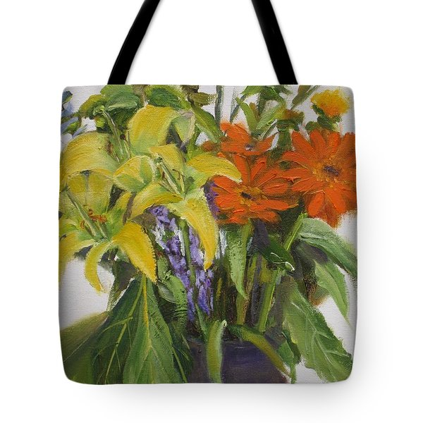 Bouquet Tote Bag by Mohamed Hirji