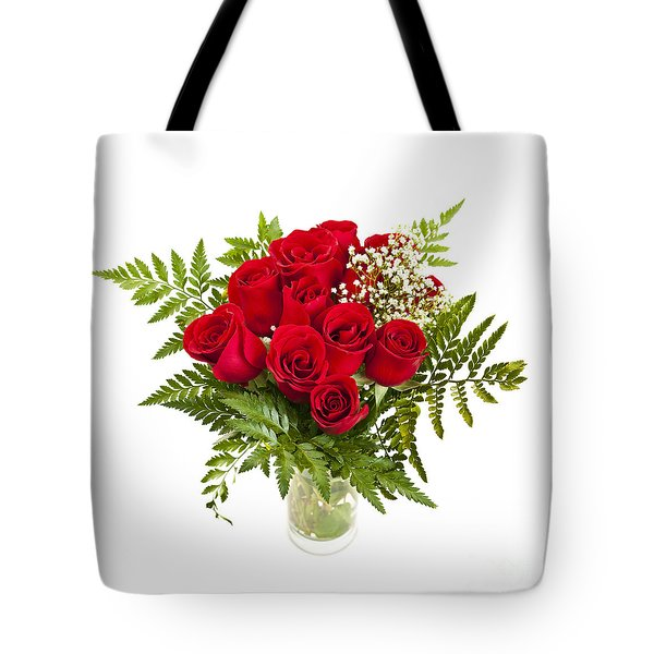 Bouquet Of Red Roses Tote Bag by Elena Elisseeva