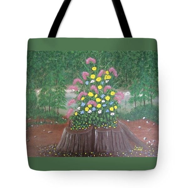Bouquet On A Stump Tote Bag