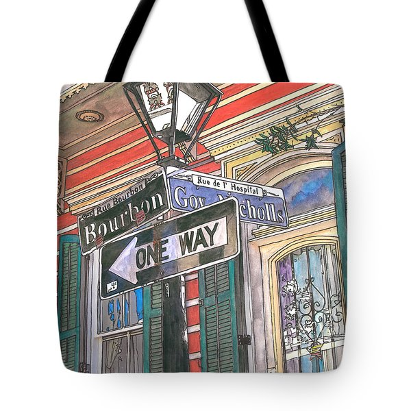 Bourbon And Nicholls Tote Bag by John Boles