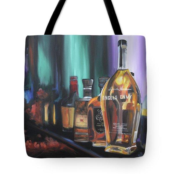 Bourbon Bar Oil Painting Tote Bag
