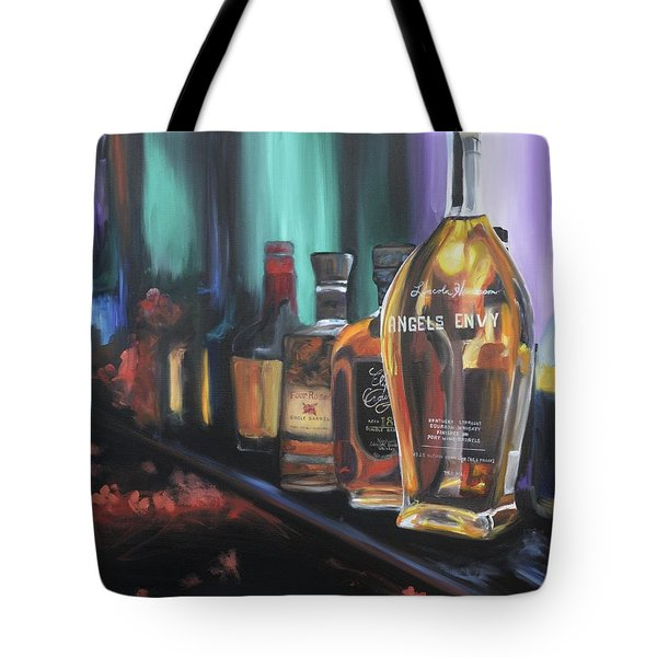 Bourbon Bar Oil Painting Tote Bag