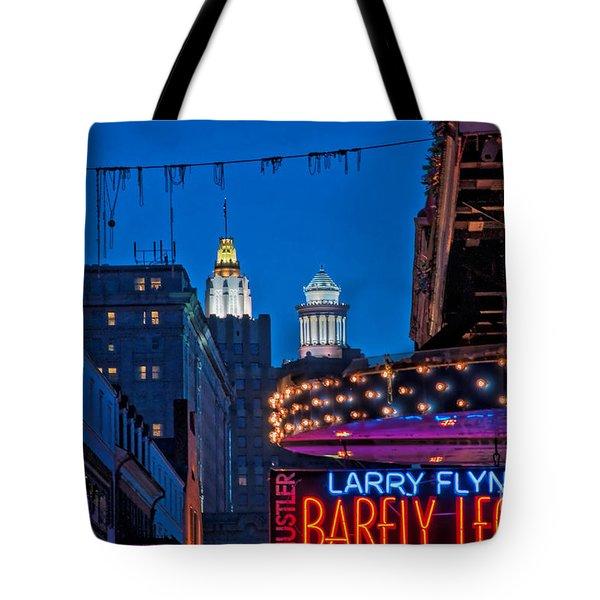 Bourbon Street And Cbd Lights  Tote Bag by Kathleen K Parker