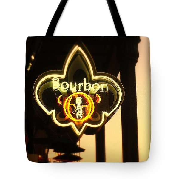 Bourbon Street Bar New Orleans Tote Bag