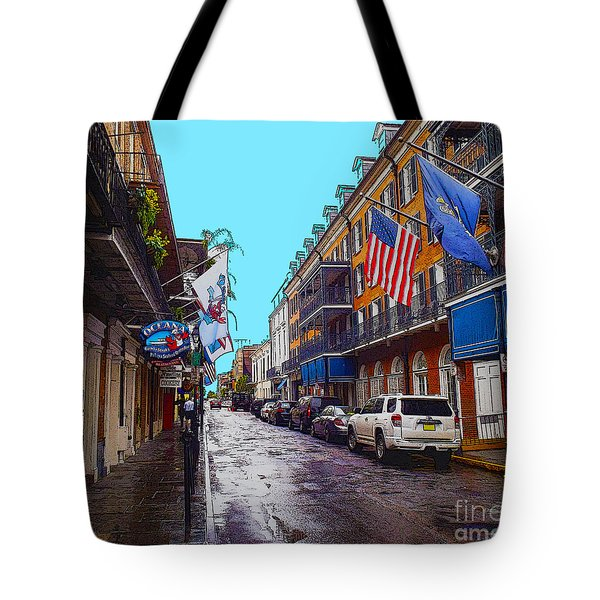 Bourbon Street Tote Bag by Carey Chen