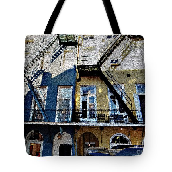 Bourbon Street Firescapes Tote Bag