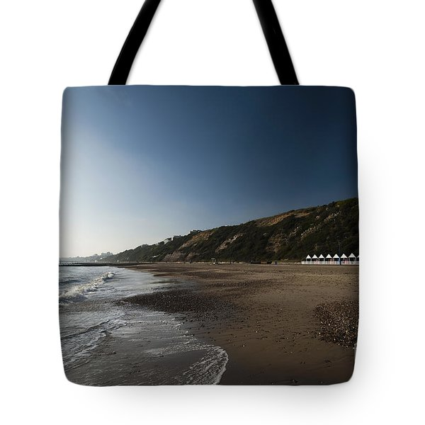 Bournemouth Beach Huts Tote Bag by Anne Gilbert