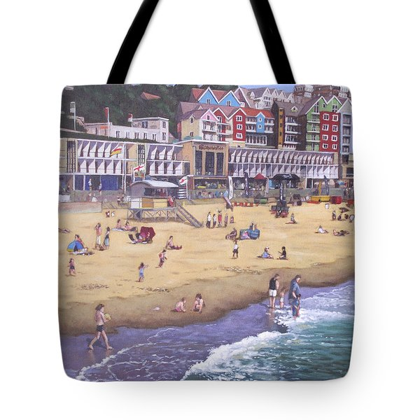 Bournemouth Boscombe Beach Sea Front Tote Bag