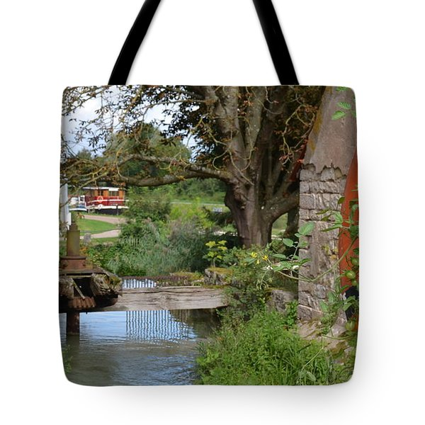 Bouy By Canal Tote Bag by Cheryl Miller