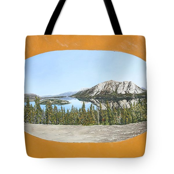 Bove Island Alaska Tote Bag by Wendy Shoults
