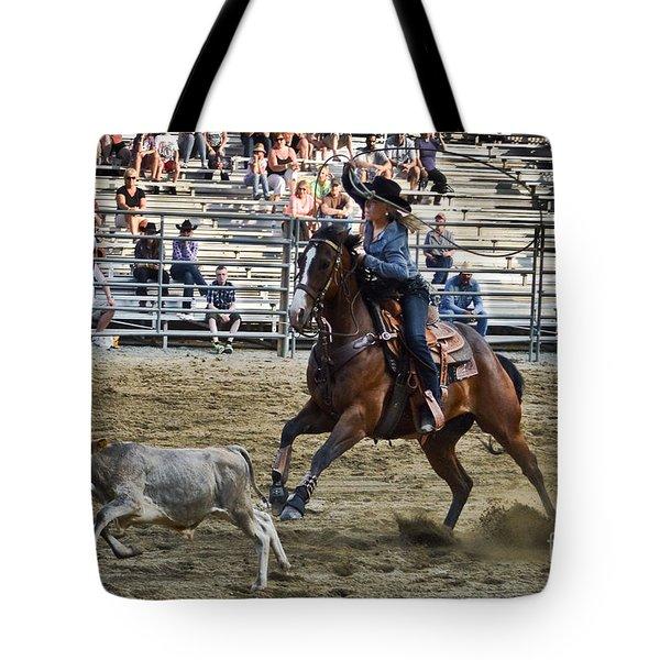 Bovine Cowgirl Tote Bag